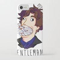 gentleman iPhone & iPod Cases featuring Gentleman by M-chi