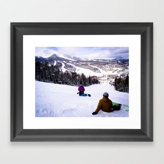 Shreddin' Framed Art Print