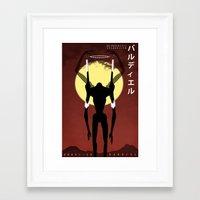 neon genesis evangelion Framed Art Prints featuring Neon Genesis Evangelion - Angel 13: Bardiel by MNM Studios
