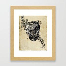 skull crystallisation Framed Art Print