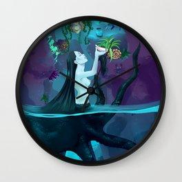 Plant collecting mermaid Wall Clock