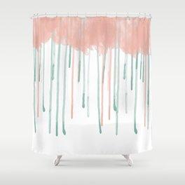 Watercolour rain Shower Curtain