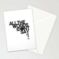 ALL THE WORDS I DON'T SAY Stationery Cards