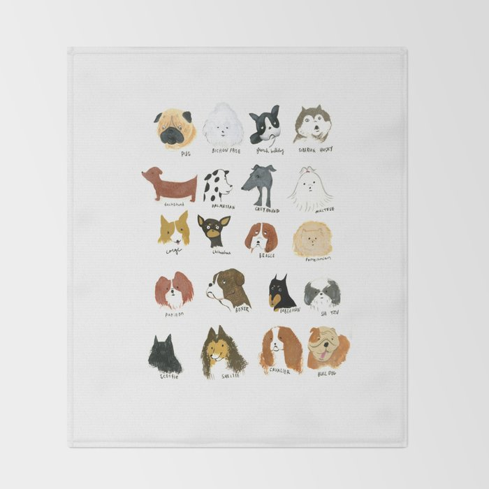 DOG FRIEND Throw Blanket