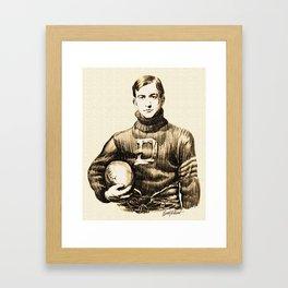 Vintage Football Framed Art Print