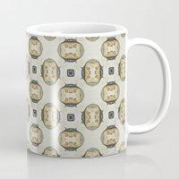 yellow pattern Mugs featuring yellow by HeidiVaught