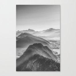 Balloon ride over the alps 3 Canvas Print