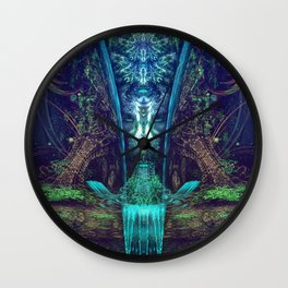 Waters Fall - Fractal - Visionary - Manafold Art Wall Clock
