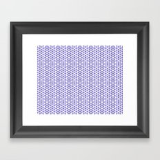 Karthuizer Blue & White Pattern Framed Art Print
