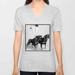 Fashion Rottweiler  Unisex V-Neck
