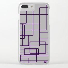 rectángulos superposiciones Clear iPhone Case