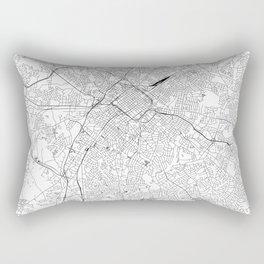 Charlotte White Map Rectangular Pillow