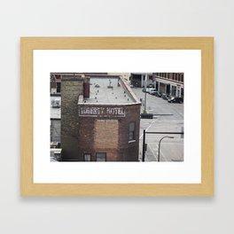 Abandoned Hotel Framed Art Print
