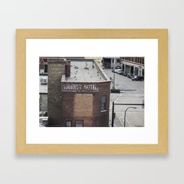 Abandoned Hotel Framed Art Print