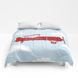 Biplane Bright Red Comforters