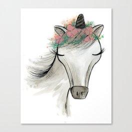 Zoey the Unicorn Canvas Print
