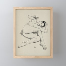 Model pose sketch 05 Framed Mini Art Print