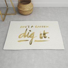 Dig It – Gold Ink Rug