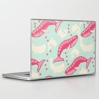 whales Laptop & iPad Skins featuring whales by Wee Jock