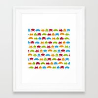 8 bit Framed Art Prints featuring 8-bit by Giuseppe Paletta