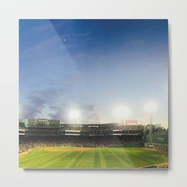 Moon over Fenway Metal Print