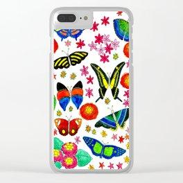 Sensational Butterflies Clear iPhone Case