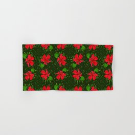 Christmas Flower Hand & Bath Towel