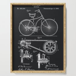 Vintage Bicycle patent illustration 1890 Serving Tray