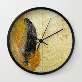Hope: with feathers Wall Clock