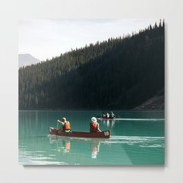 Lake Canoe Metal Print