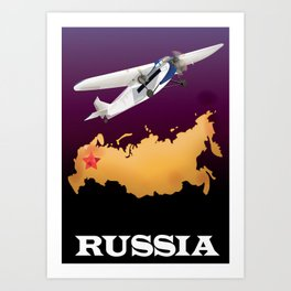 Russia travel poster Art Print