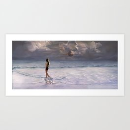 Space Beach Art Print