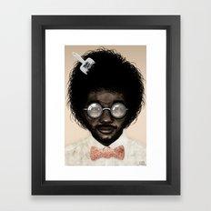 Portrait of Toro Y Moi Framed Art Print