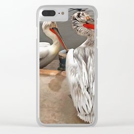 Pelicans - The Grey Twins Clear iPhone Case