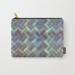 Colorful Royal Gold Geometric Pattern II Carry-All Pouch