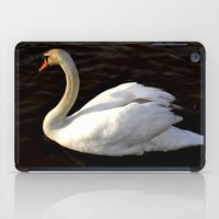 swan iPad Cases featuring swan by Cindy Munroe Photography