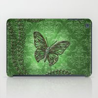 decorative iPad Cases featuring Decorative butterfly by nicky2342