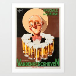 Vintage Beer Poster Art Print