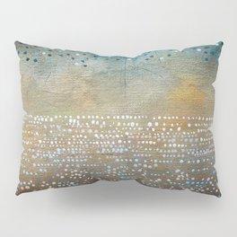 Landscape Dots - Turquoise Pillow Sham