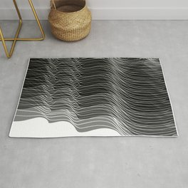 Multiplied Parallel Lines No.: 02. - White Lines Rug