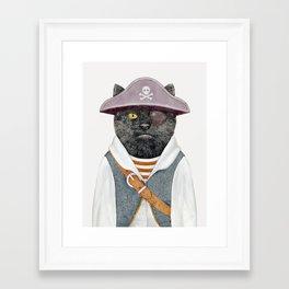 Pirate Cat Framed Art Print