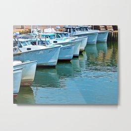 Boats Reflected Metal Print
