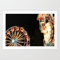 Ferris Wheel + County Fair Art Print