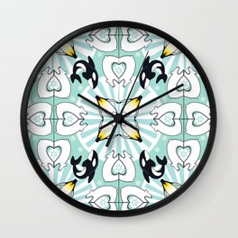 Kaleidoscopic Both Poles Animals Wall Clock