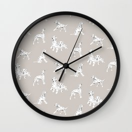 Dalmatian grey pattern  Wall Clock