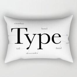 Anatomy of Type Rectangular Pillow