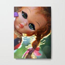 Dollface Metal Print