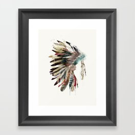 native headdress Framed Art Print
