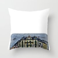 switzerland Throw Pillows featuring Geneva -  Switzerland by Vehen§Nes