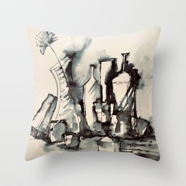 Abstract- Interaction of Shapes I Throw Pillow